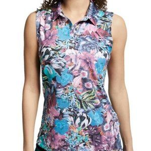 NIKE Dri-Fit Graphic Floral Sleeveless Golf Shirt